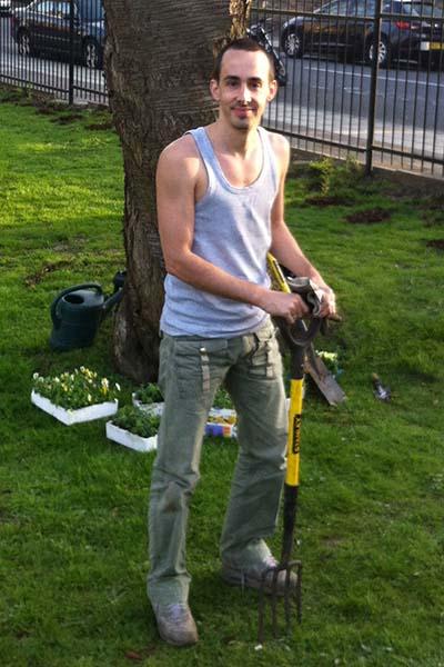 Our new gardener, Tim