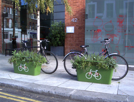 Cycle Rack Planter