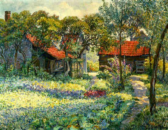"A painting by Juliette Wytsman: ""De Geméisgaart"""